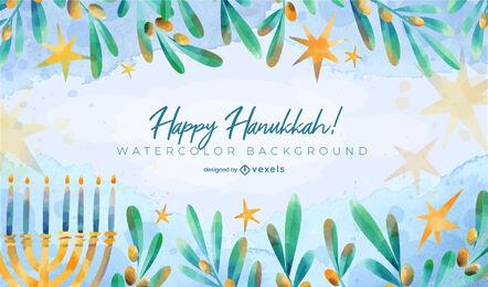 Hanukkah festivity watercolor background design