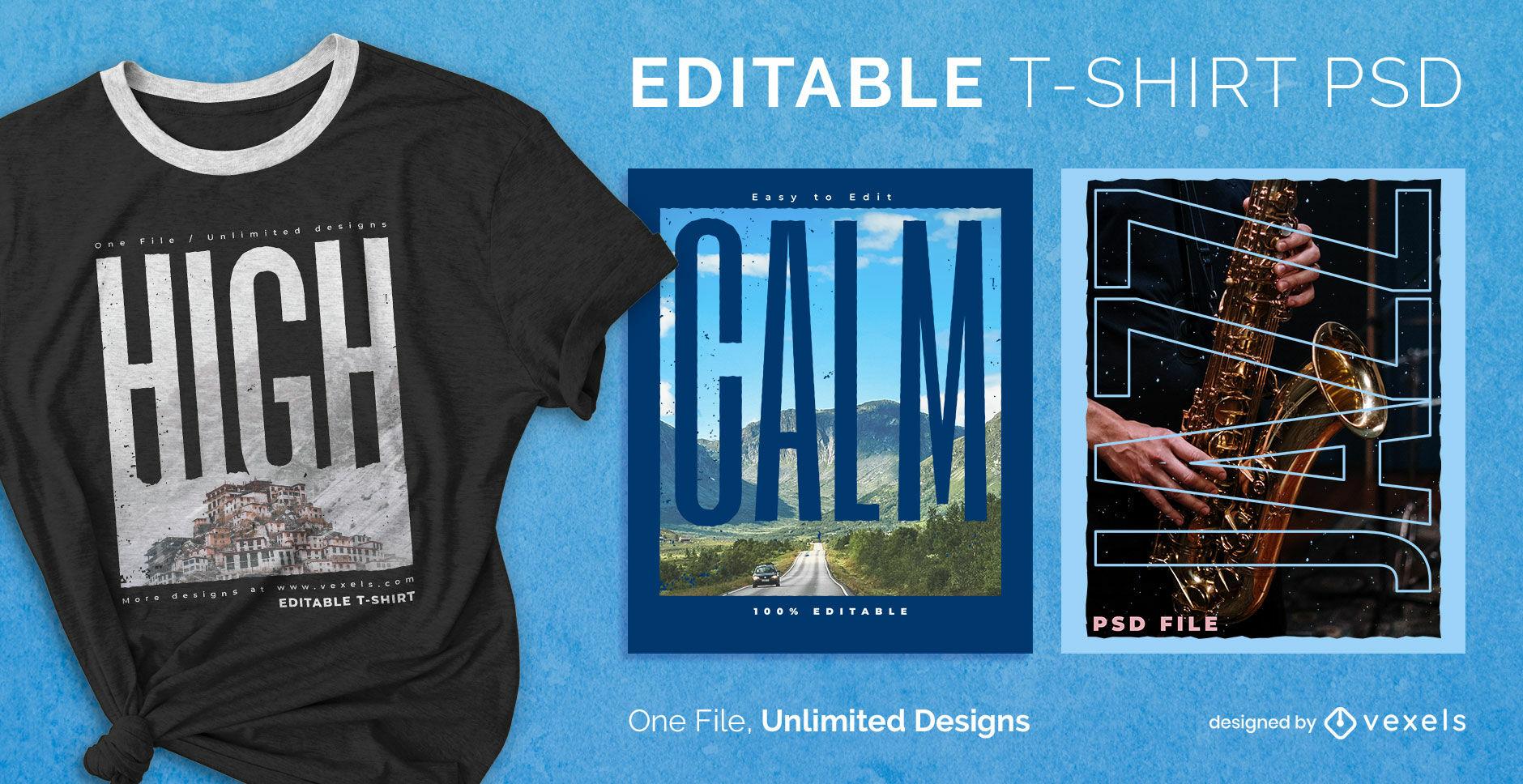 Big text image scalable psd t-shirt design