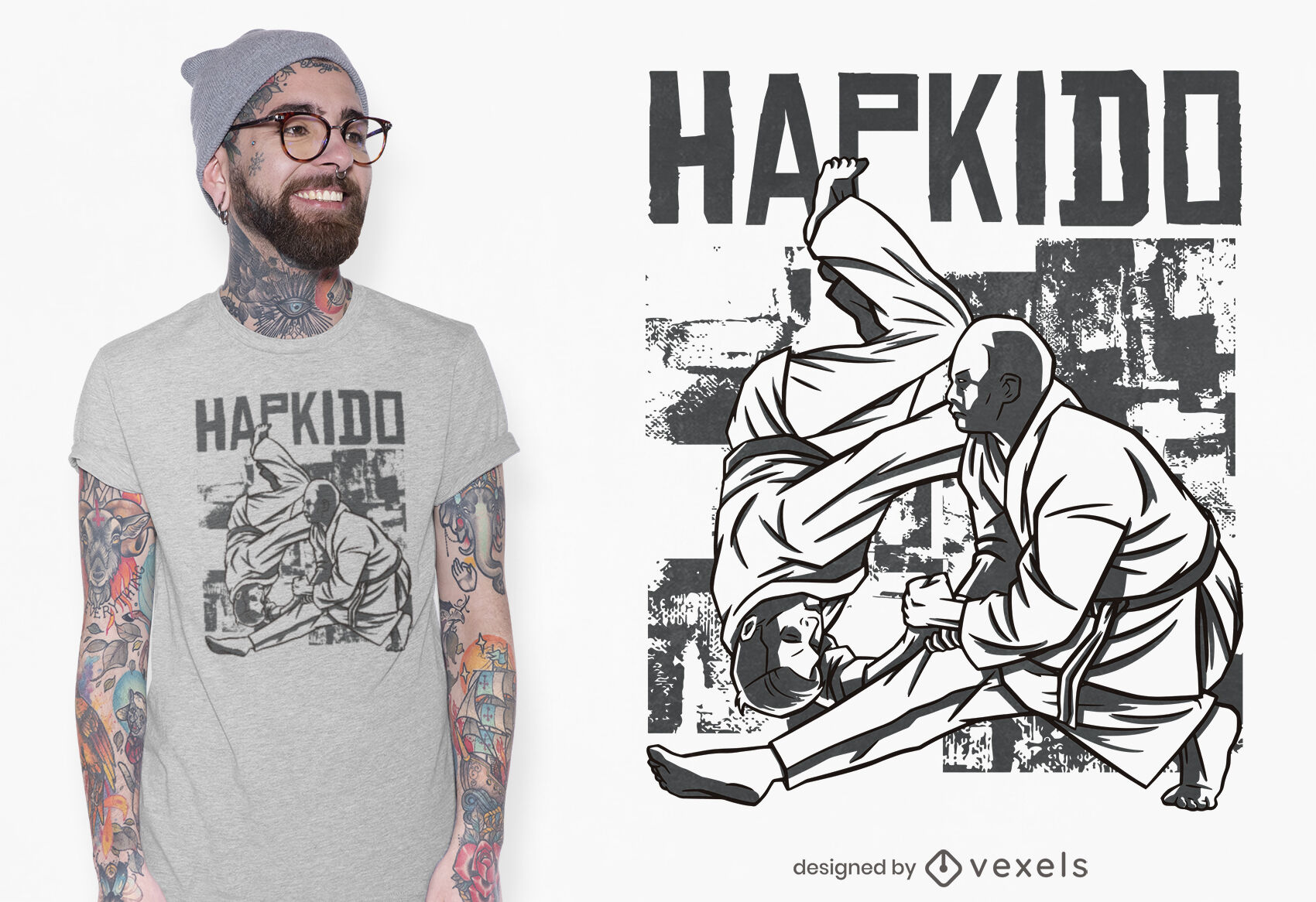 Hapkido martian arts t-shirt design