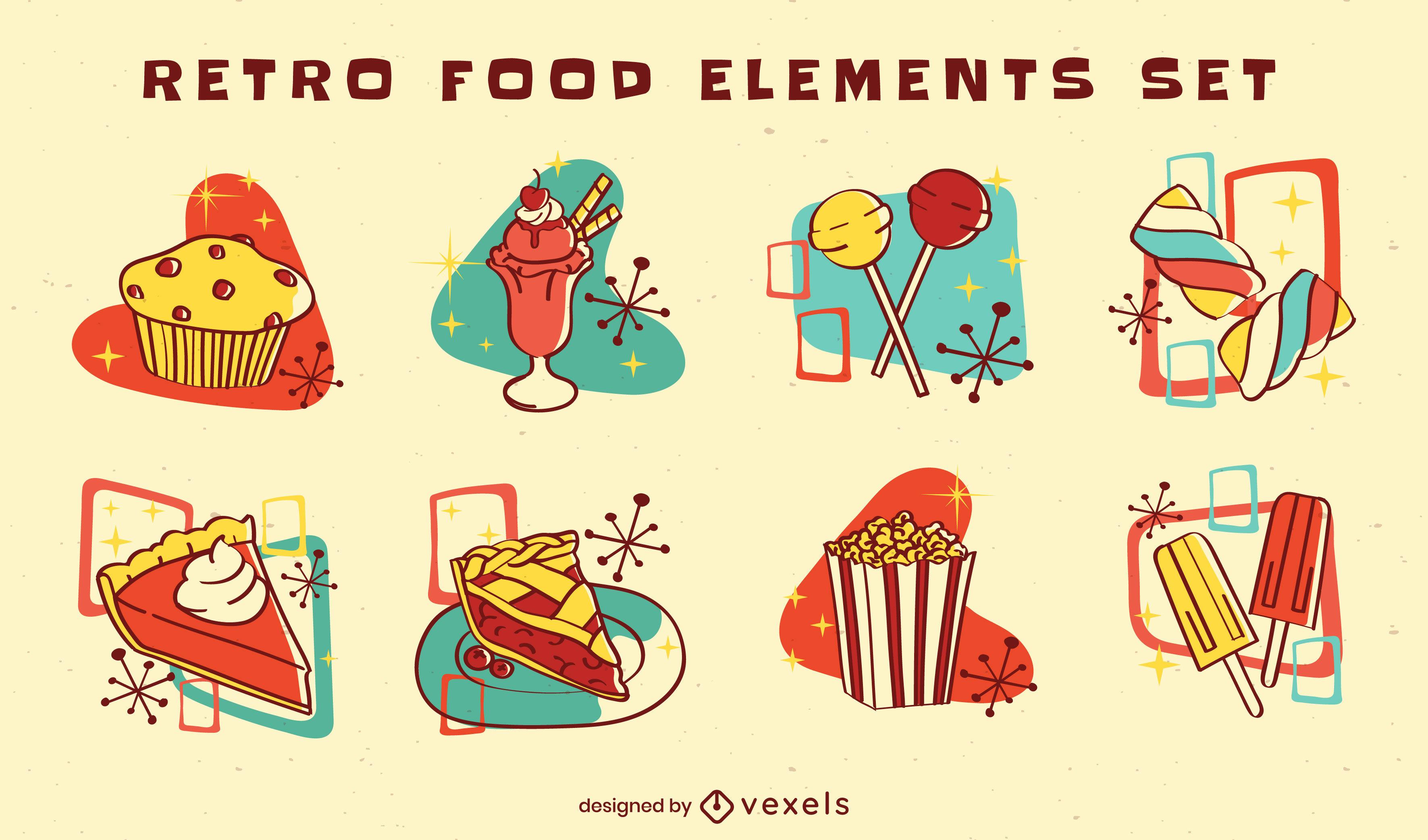 Sweet treats retro style color