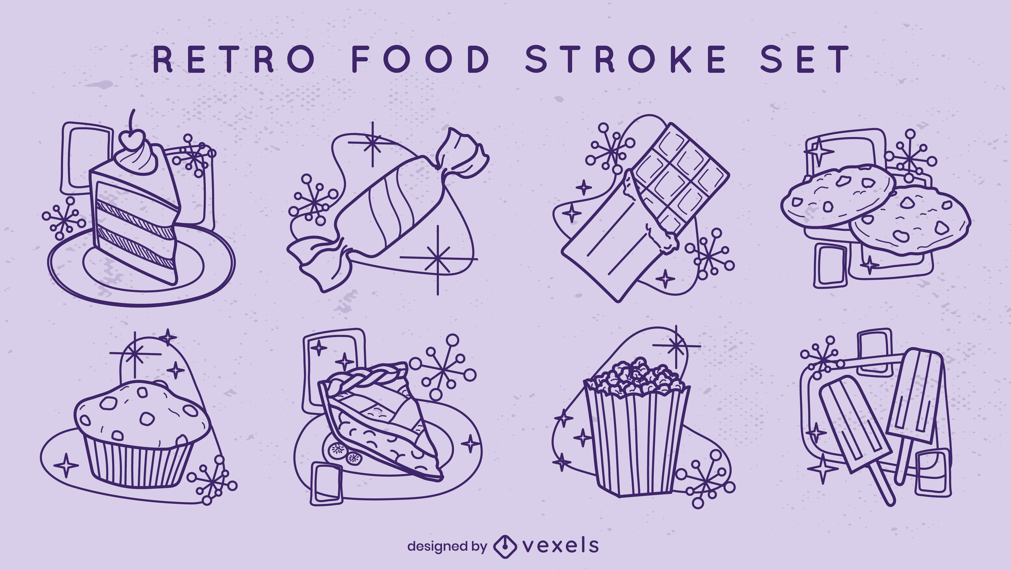 Sweet treats retro stroke style