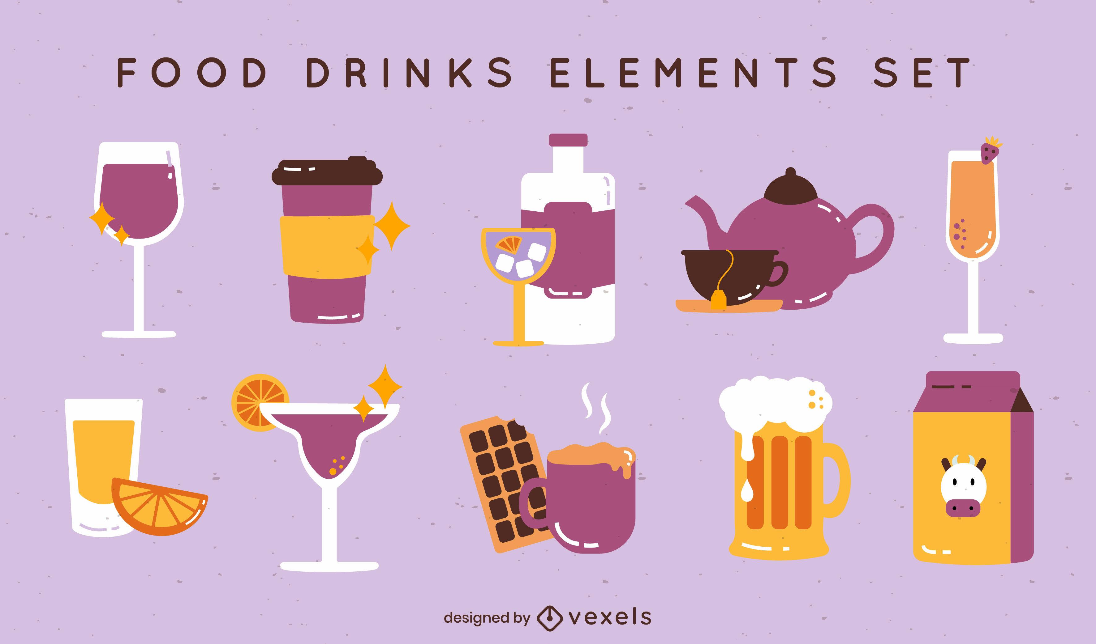 Bebidas com estilo brilhante