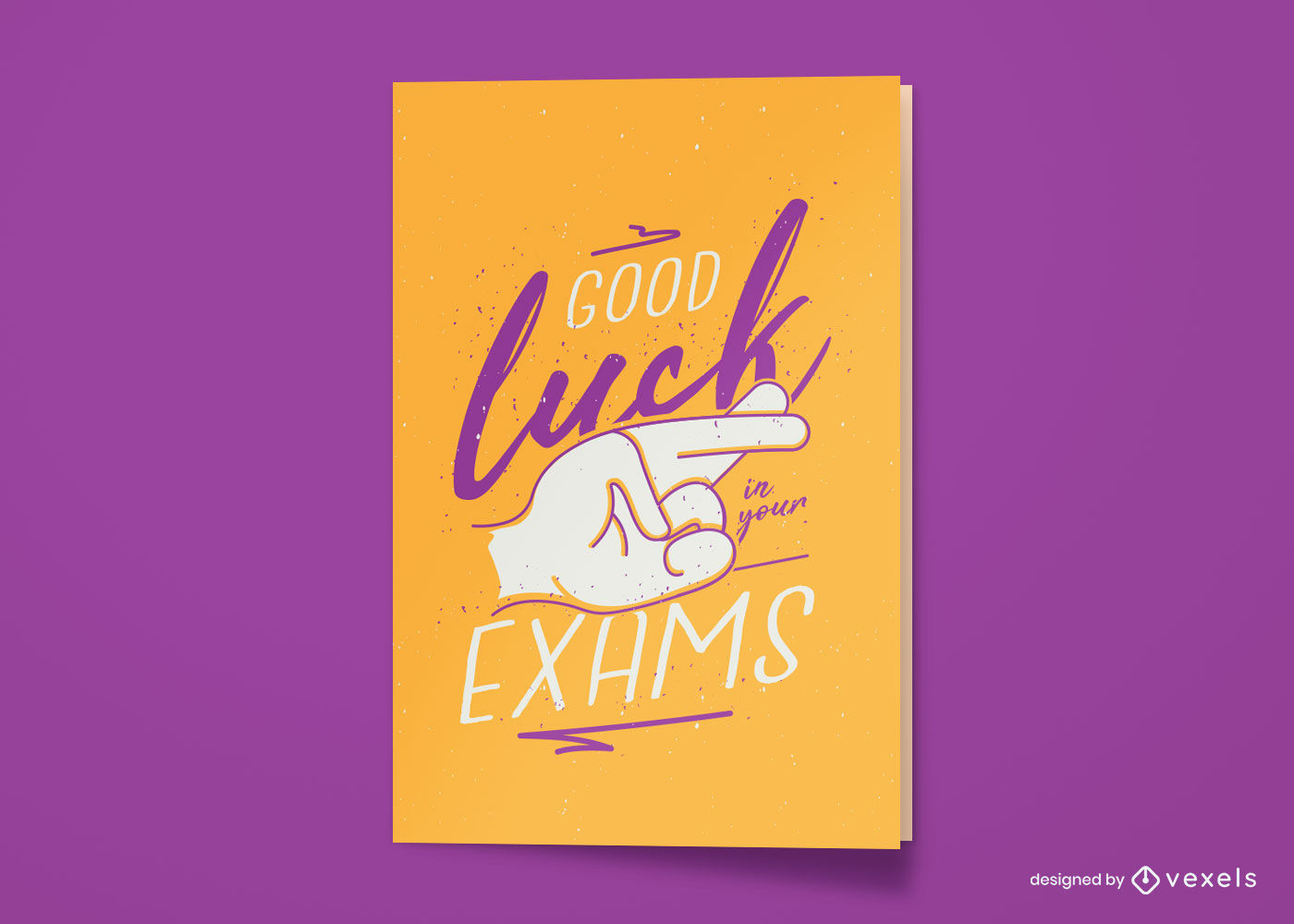 Good luck exam greeting card design