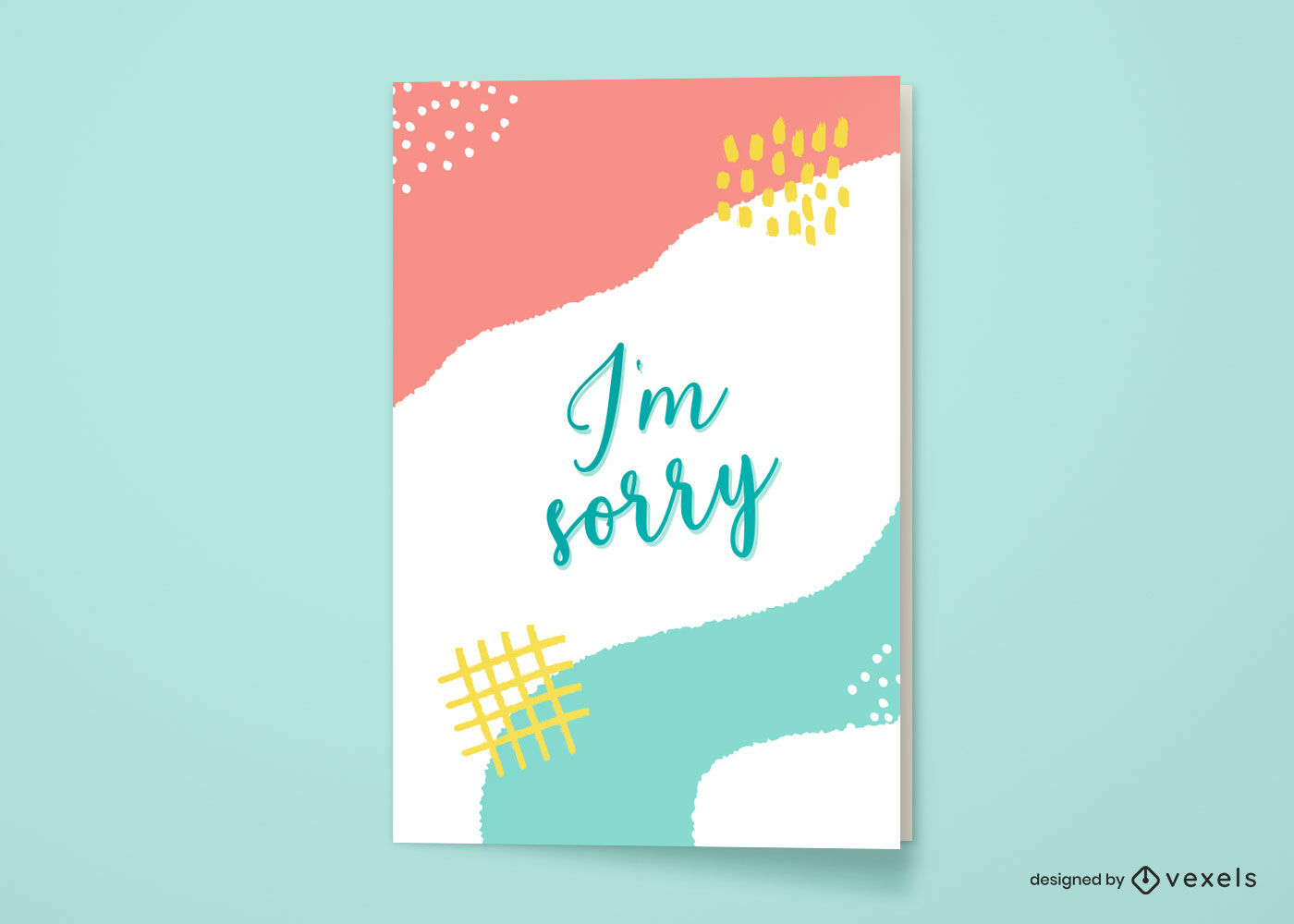 Es tut mir leid Grußkarte abstraktes Design