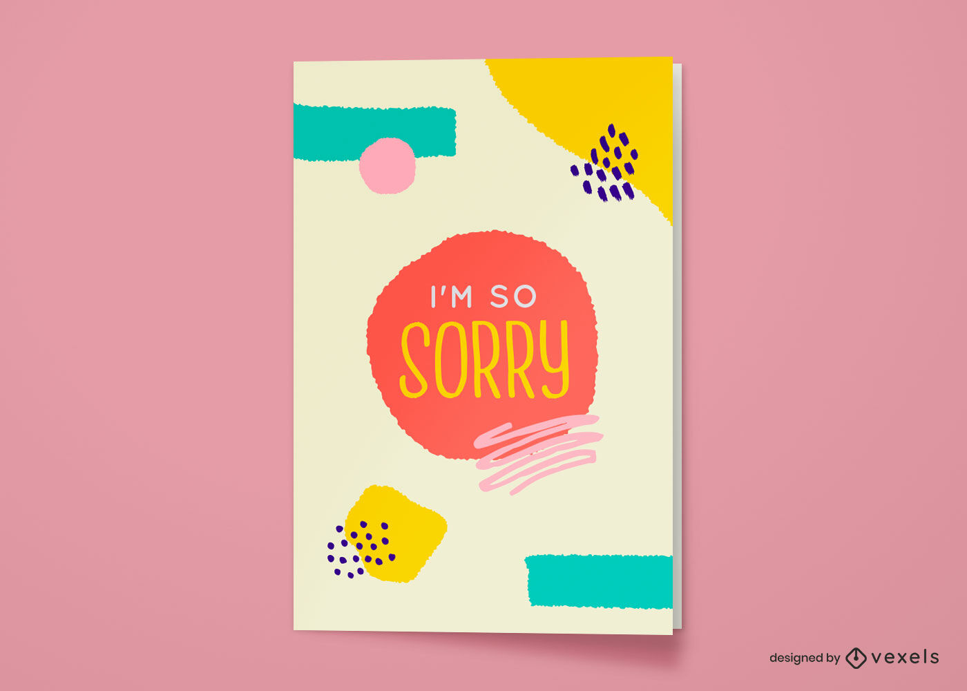 I'm so sorry greeting card abstract design