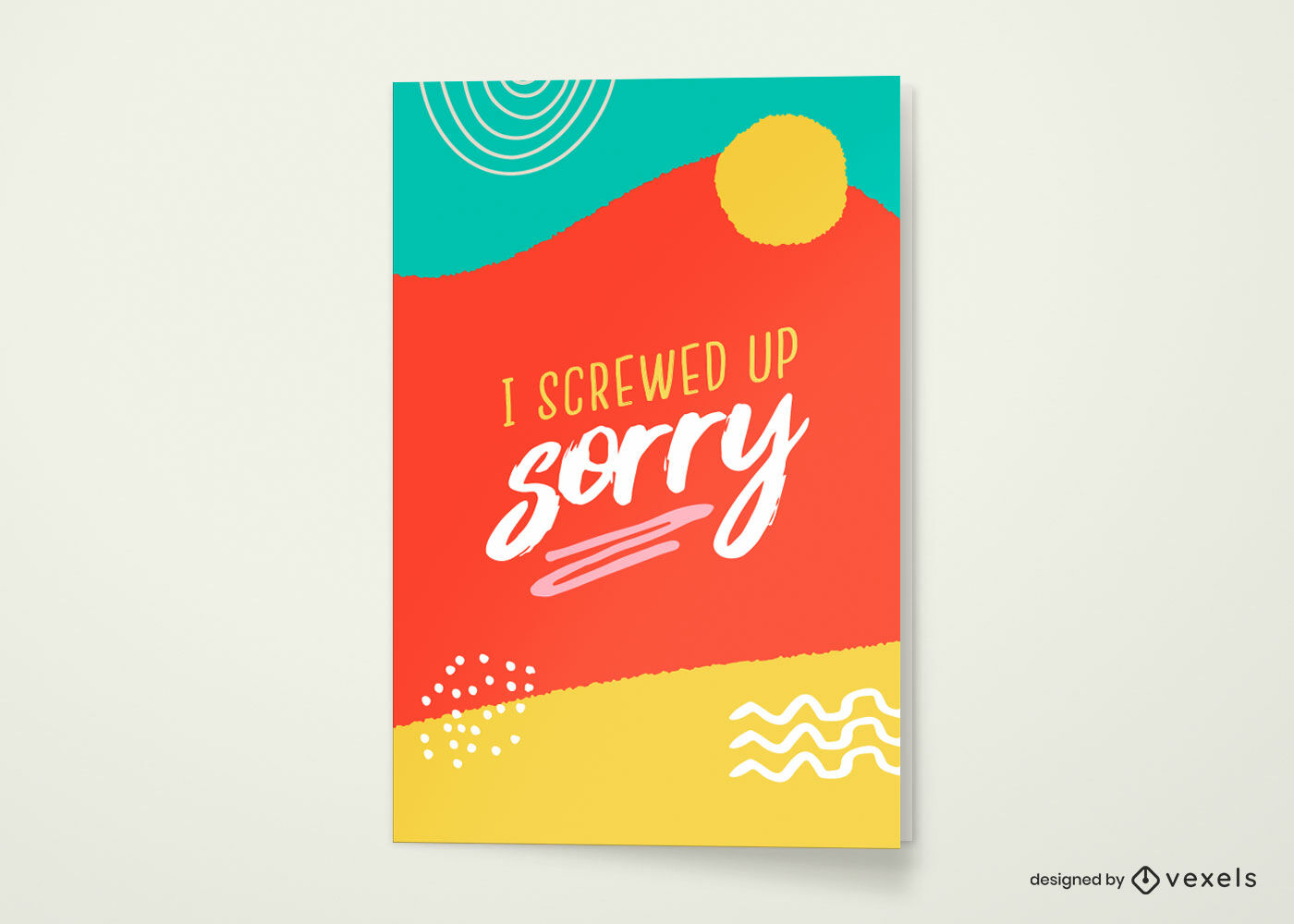 Screwed up sorry greeting card template