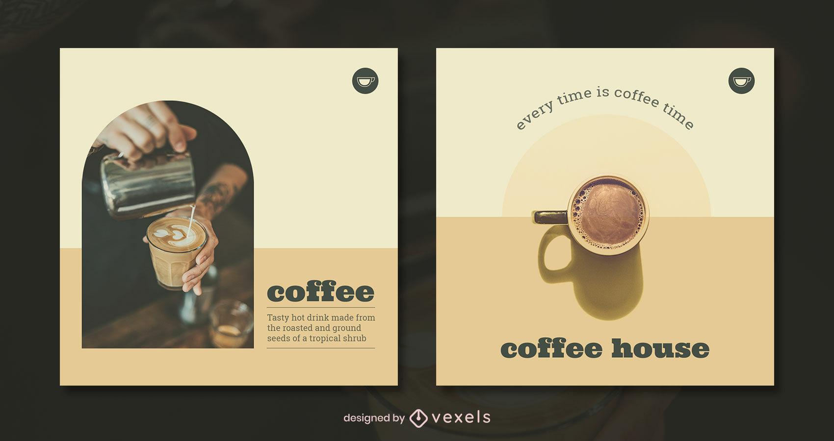Minimal warm tones monochromatic post template