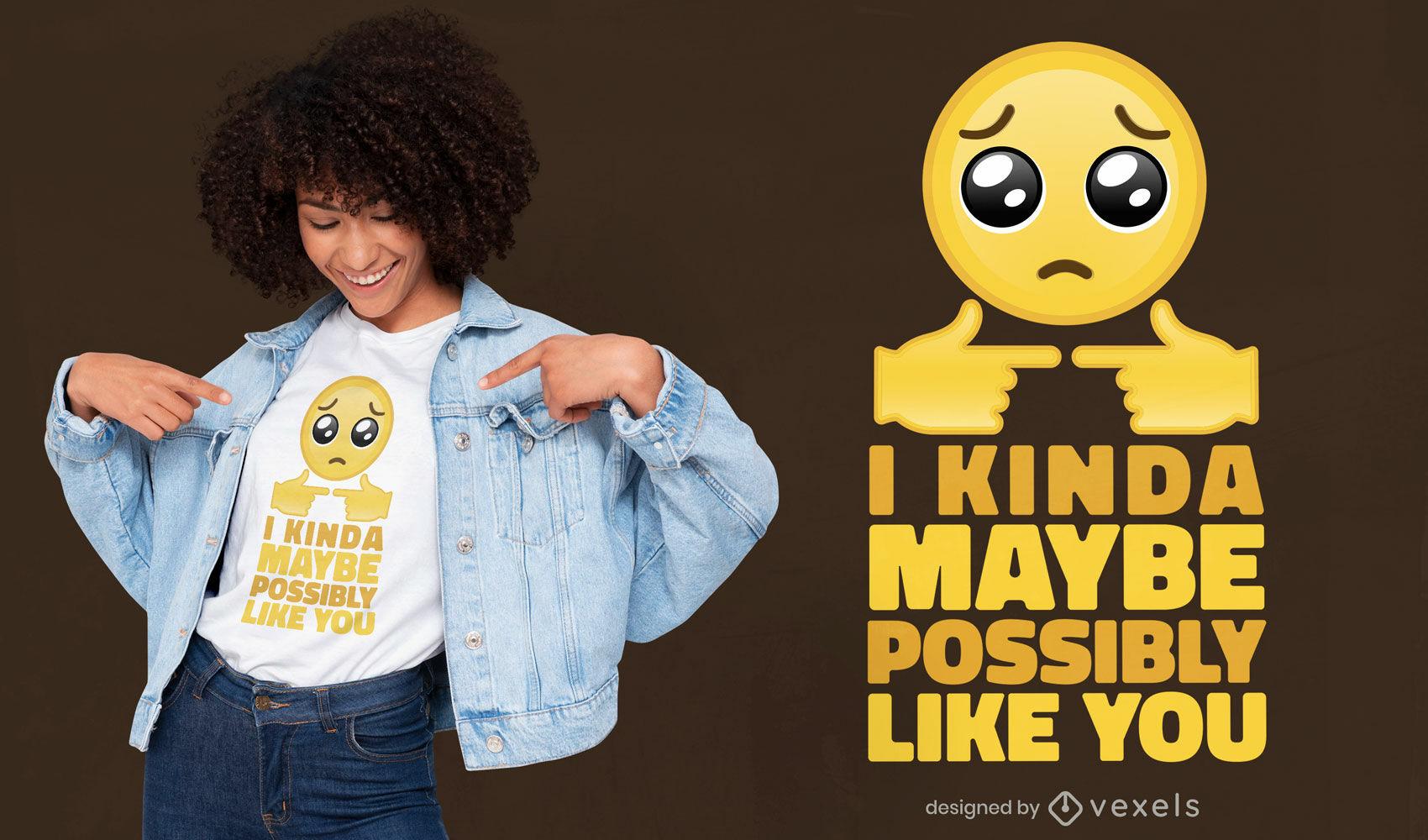 Love confession emoji t-shirt design