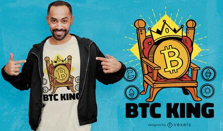 Bitcoin crypto king t-shirt design