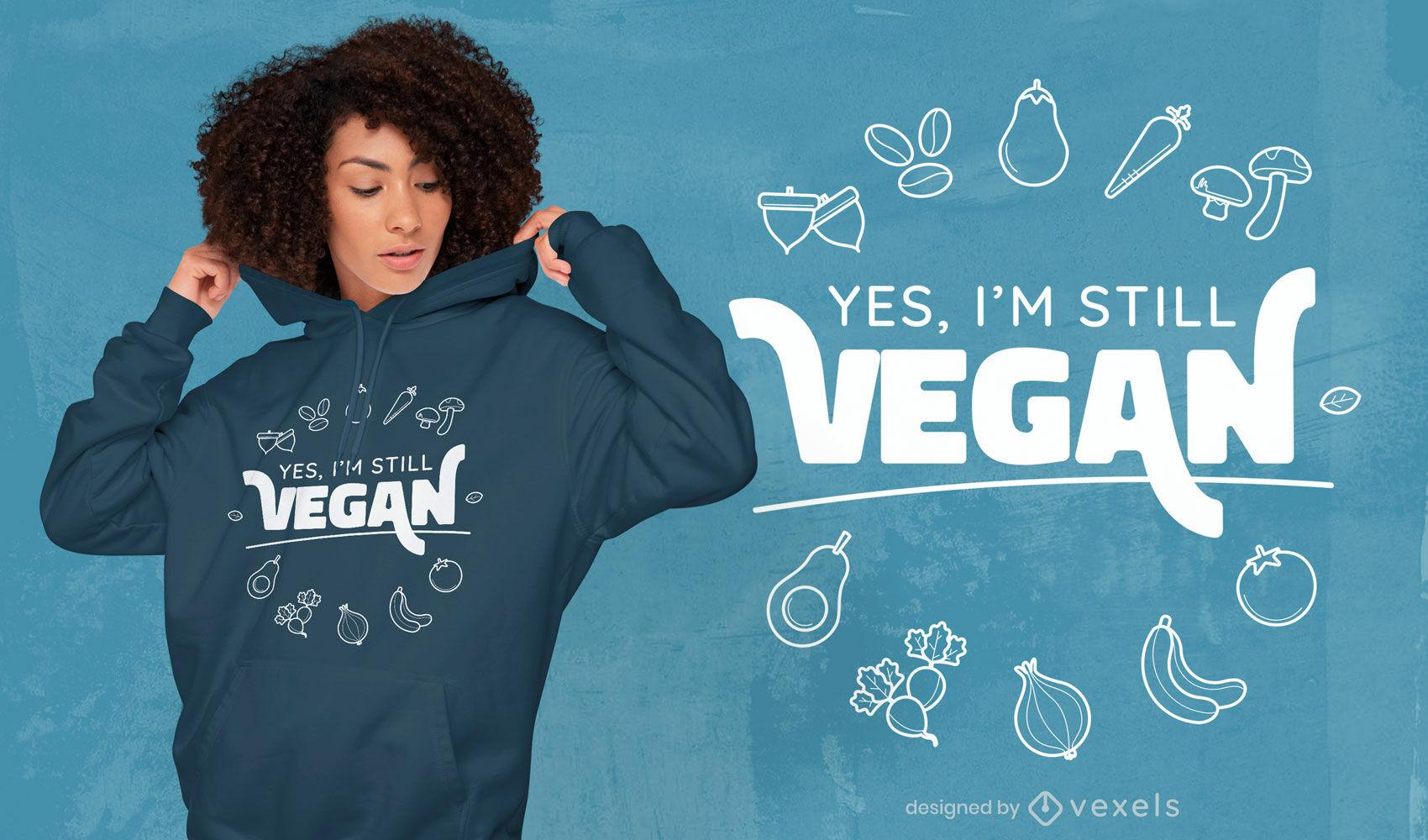 Dise?o de camiseta con cita de dieta vegana