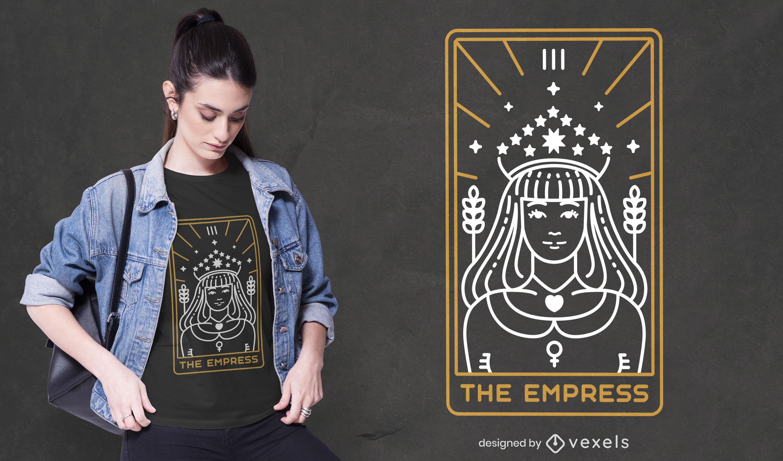 Diseño de camiseta de astrología de la carta de la emperatriz del tarot.