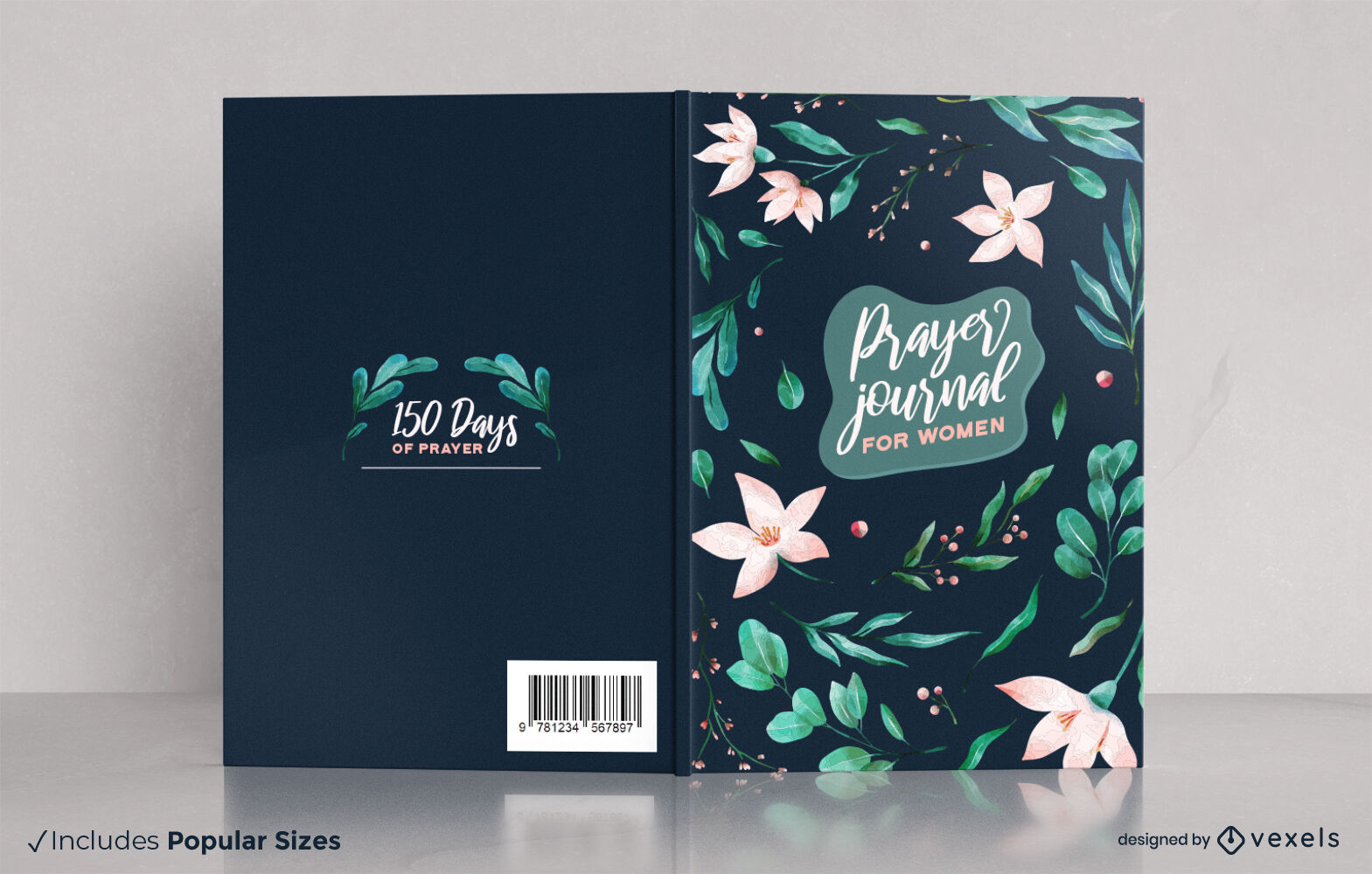 Bucheinband des Aquarell-Blumen-Gebets-Tagebuchs