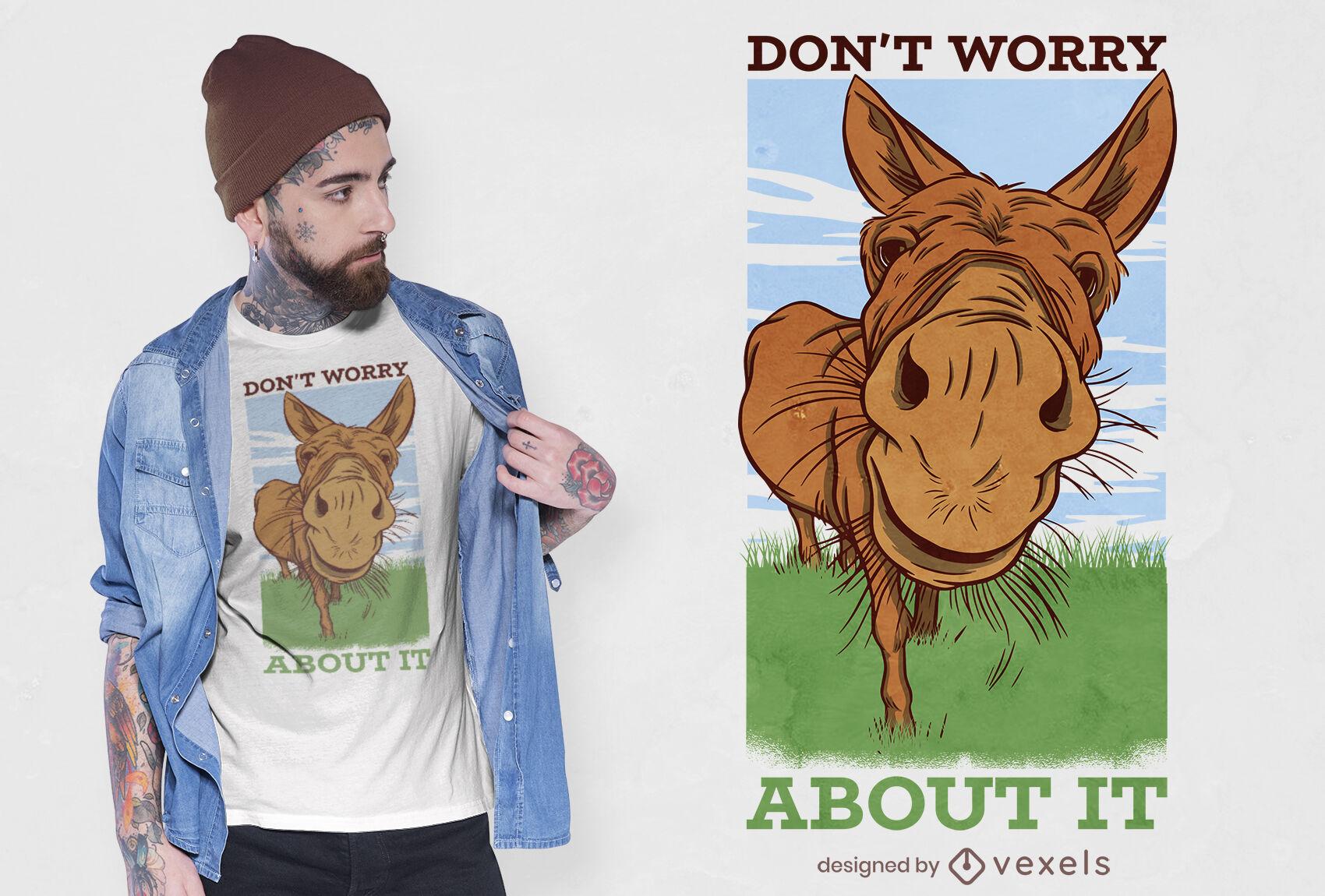 Diseño de camiseta de burro de cerca