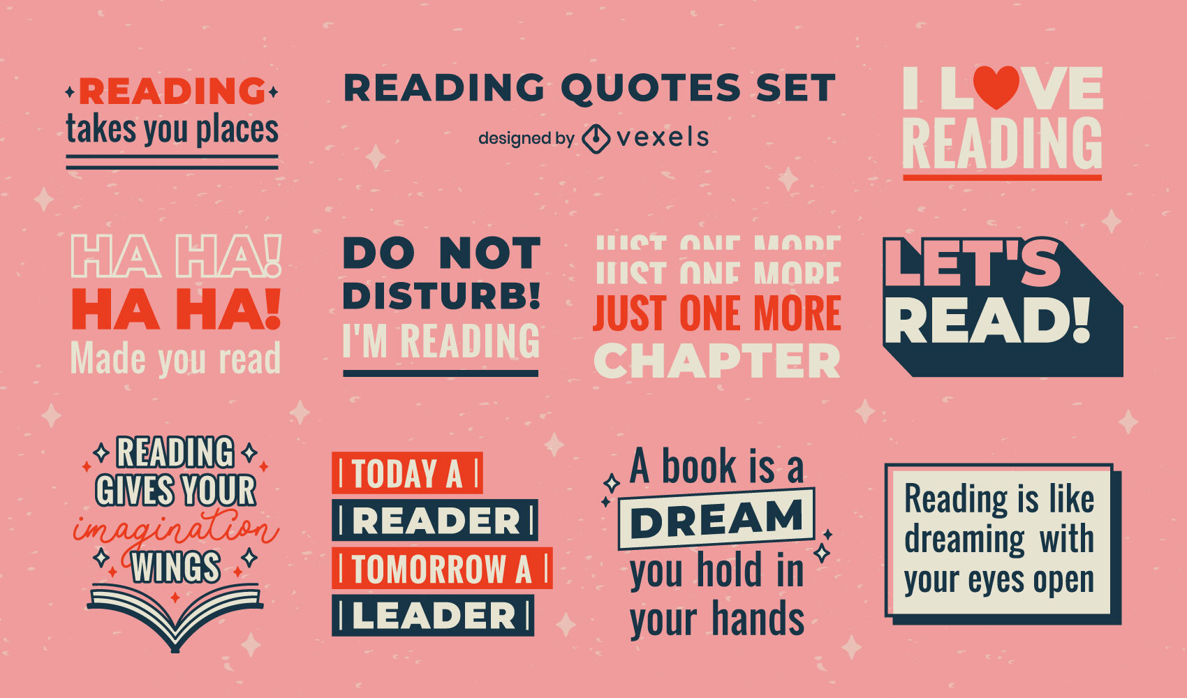 Reading quotes in badges set