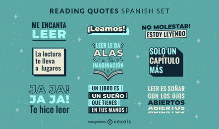 Reading quotes in spanish set