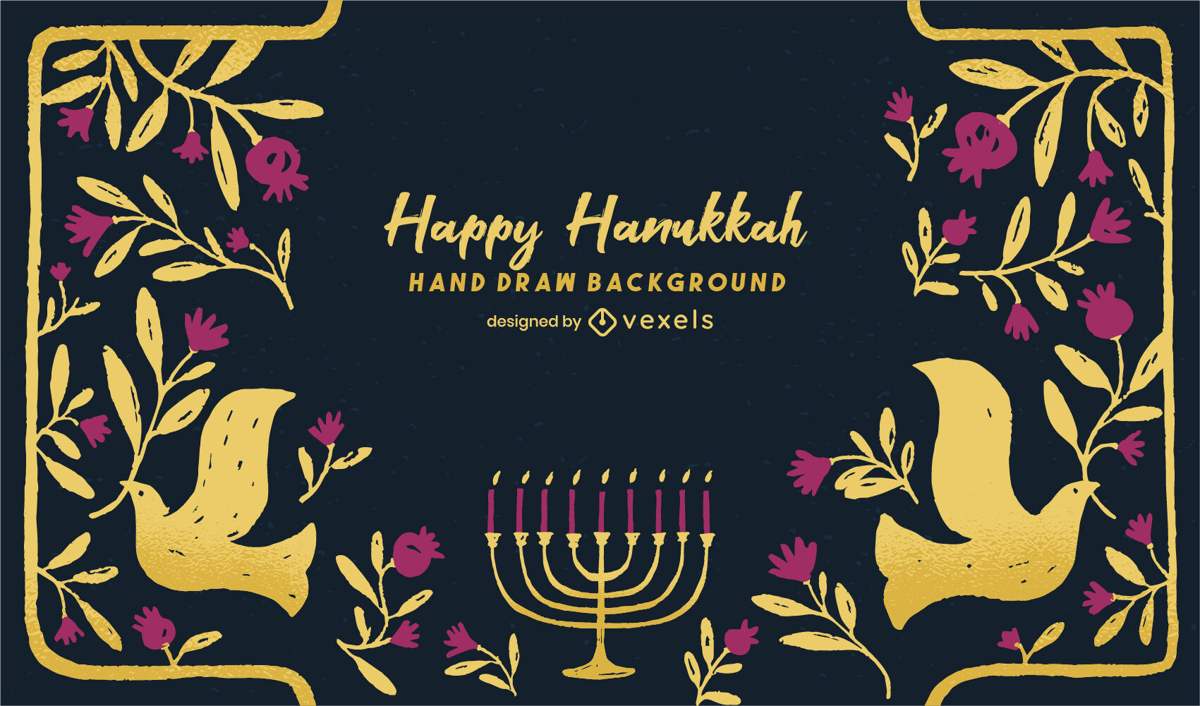 Gradiente de fondo feliz hanukkah