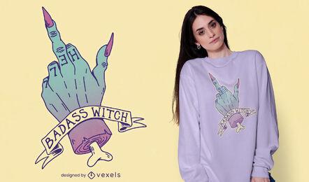 Pastel goth badass witch t-shirt design