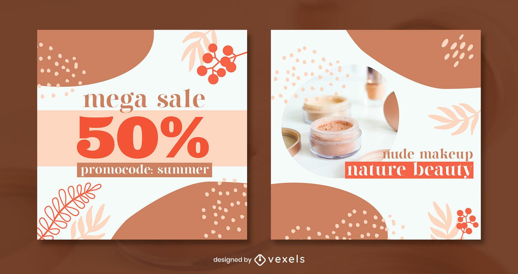 Organic elements warm tones post template