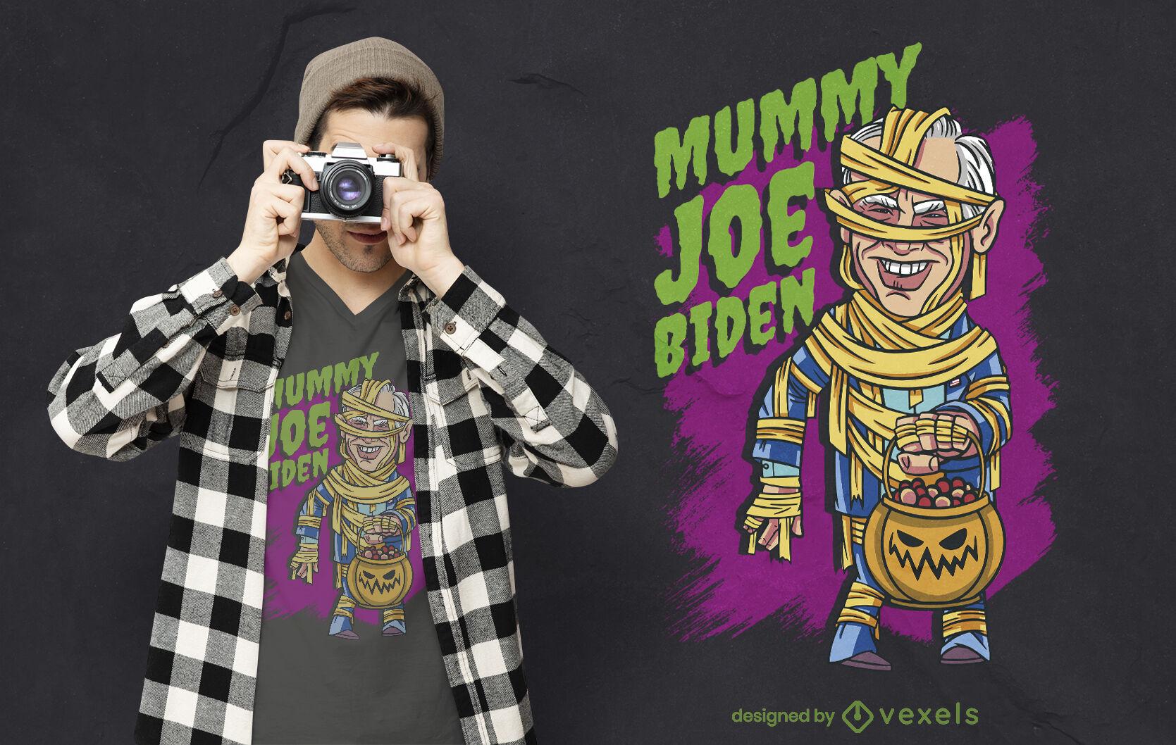 Design de camiseta para múmia de Joe Biden