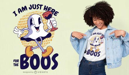 Retro cartoon ghost quote t-shirt design