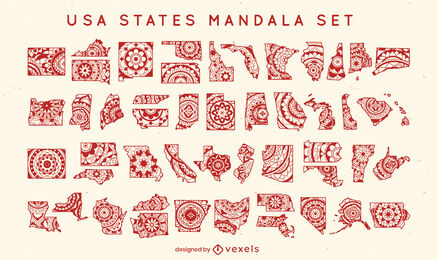 States of the US mandala set