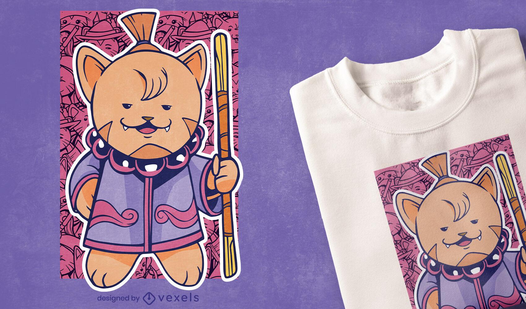 Monk cat t-shirt design