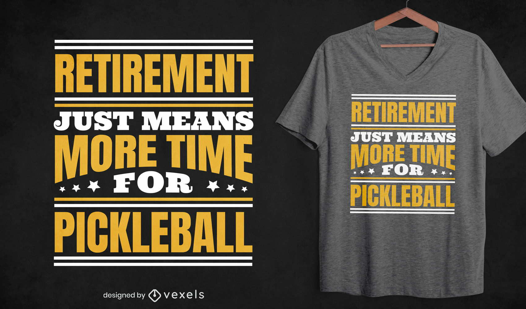 Retirement pickleball quote t-shirt design