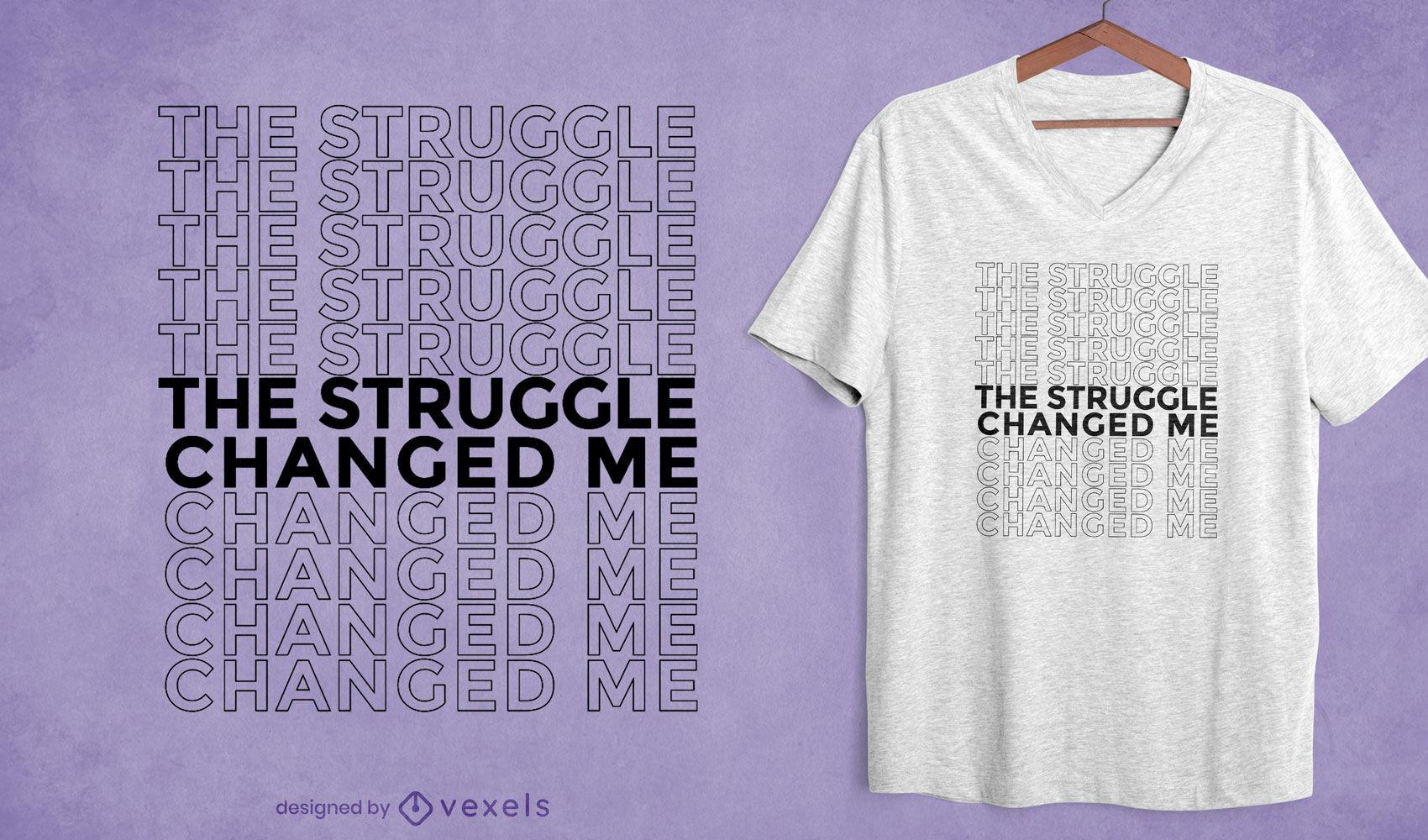 Lucha me cambió el diseño de la camiseta de la cita
