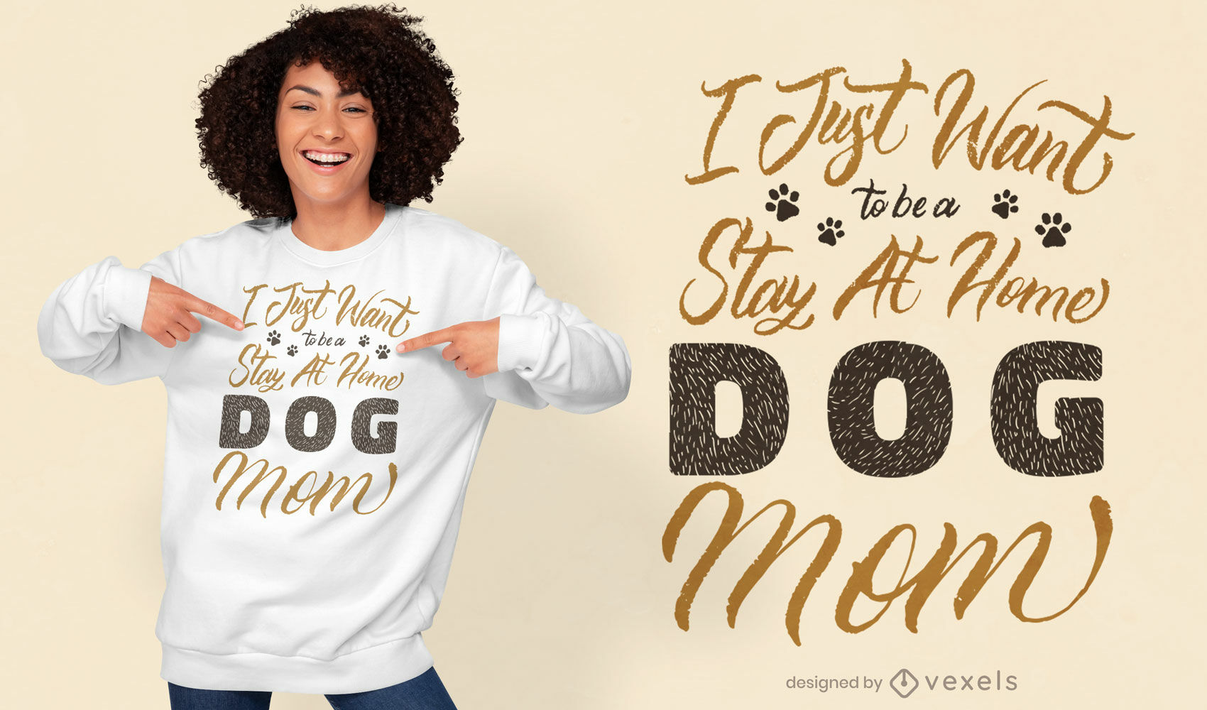 Stay at home dog mom t-shirt quote design