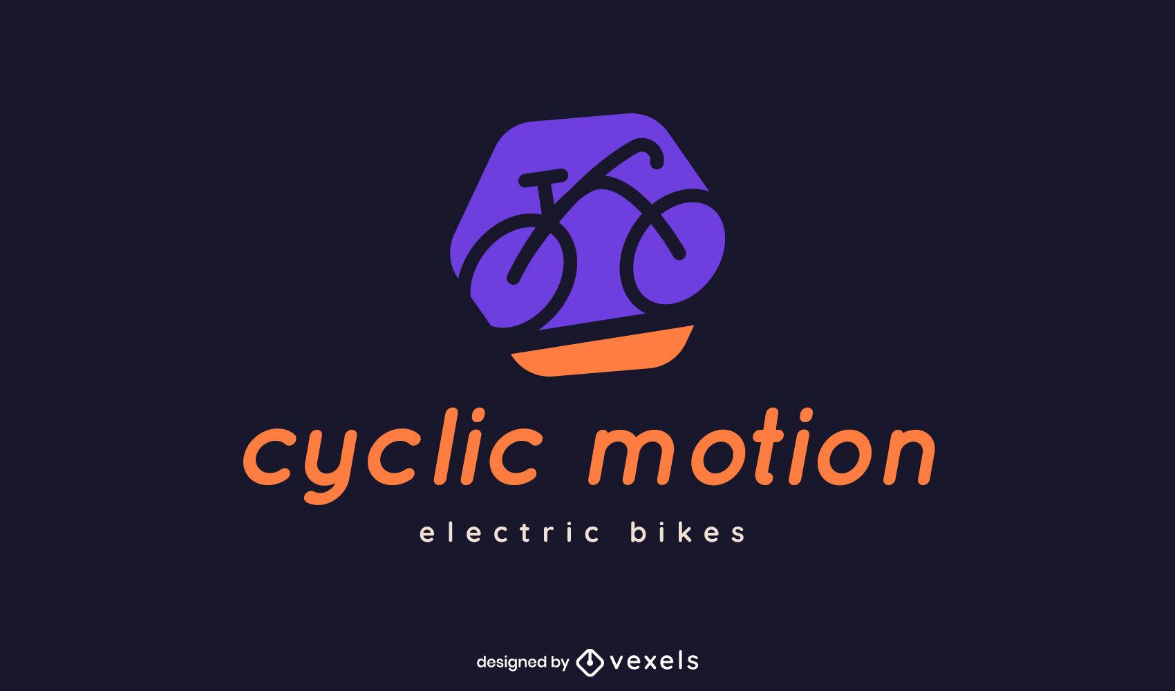 Plantilla de logotipo de color de bicicleta