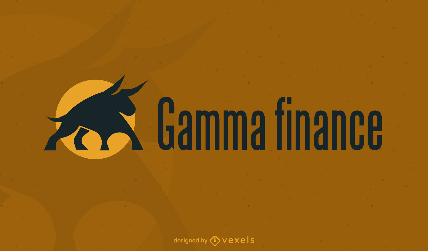 Bull finance logo template