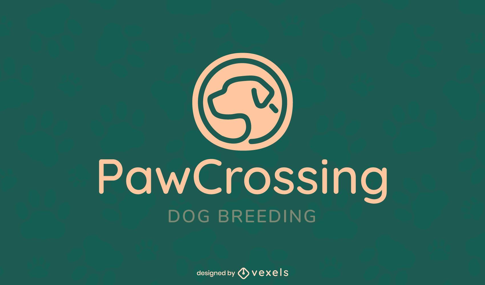 Dog breeding logo template
