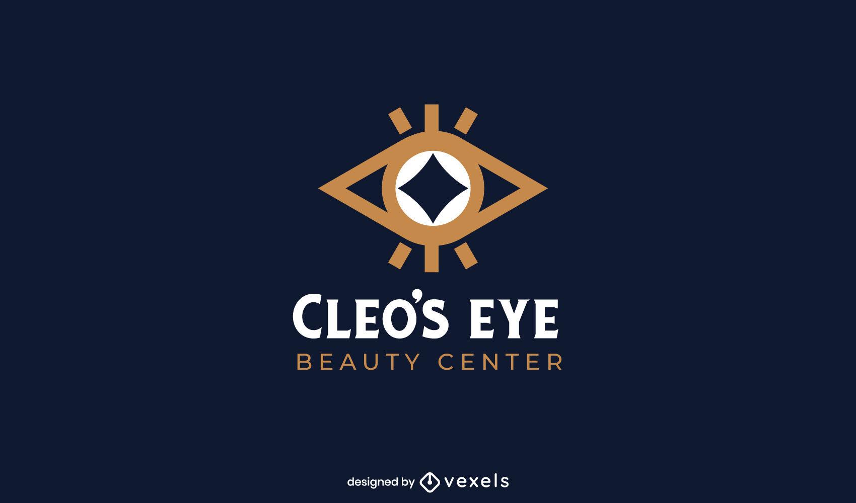Plantilla de logotipo de ojo geométrico