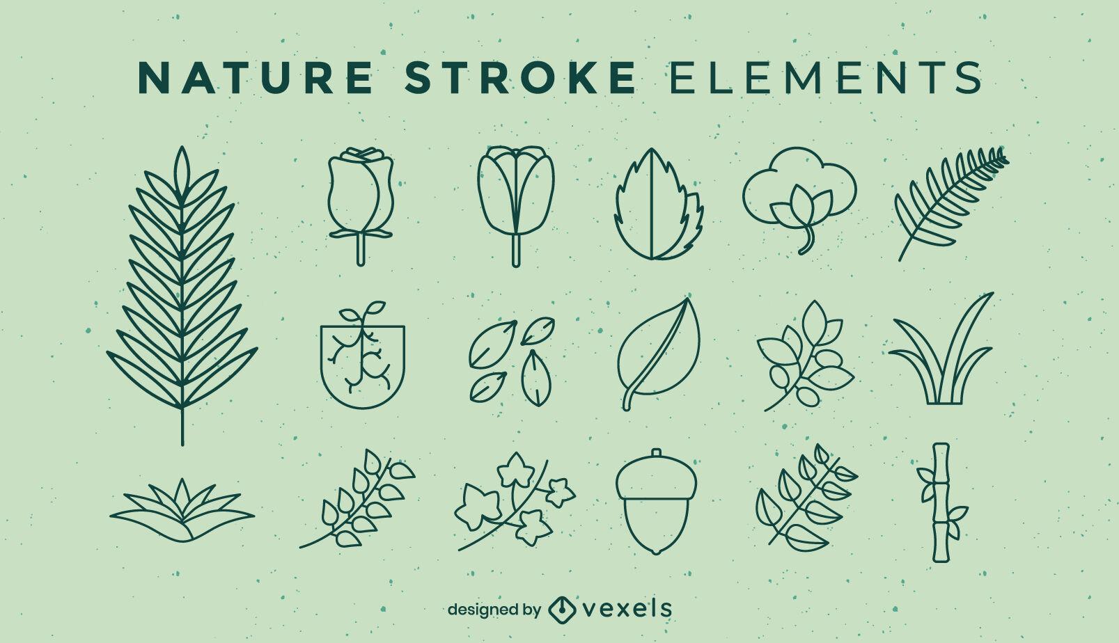 Elementos de la naturaleza establecen trazo
