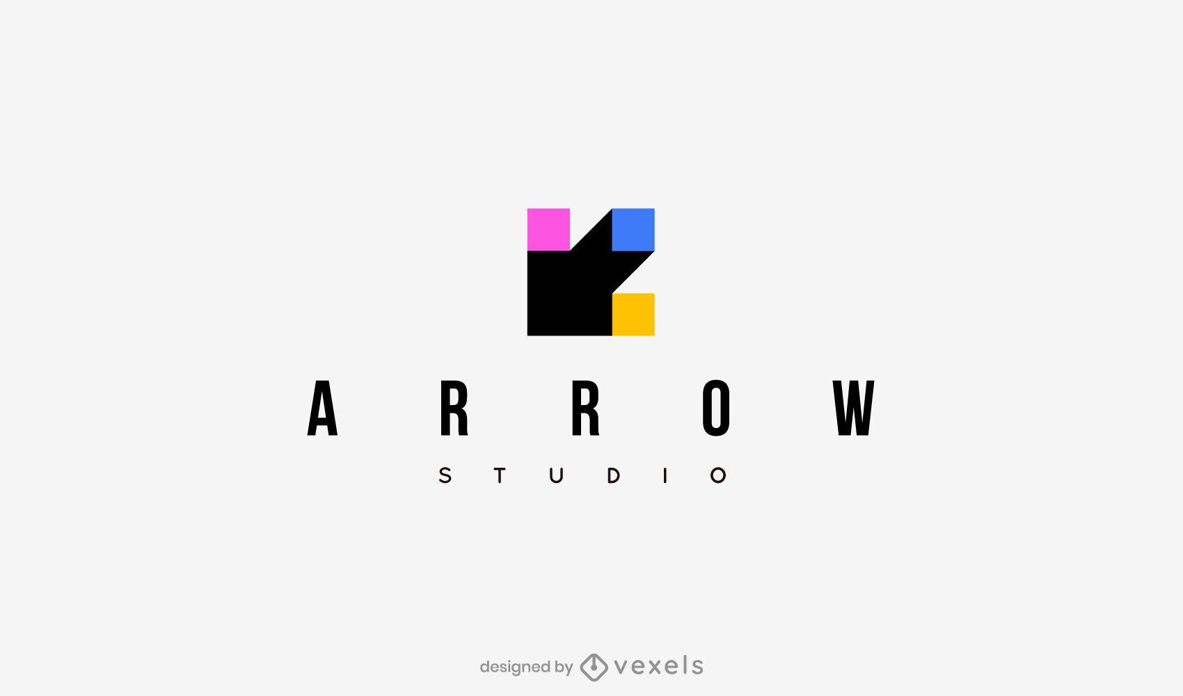 Arrow flat logo template
