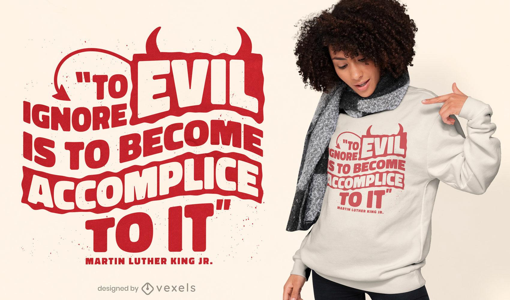 Dise?o de camiseta con cita de Martin Luther King Jr