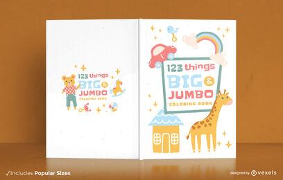 Diseño de portada de libro para colorear para niños