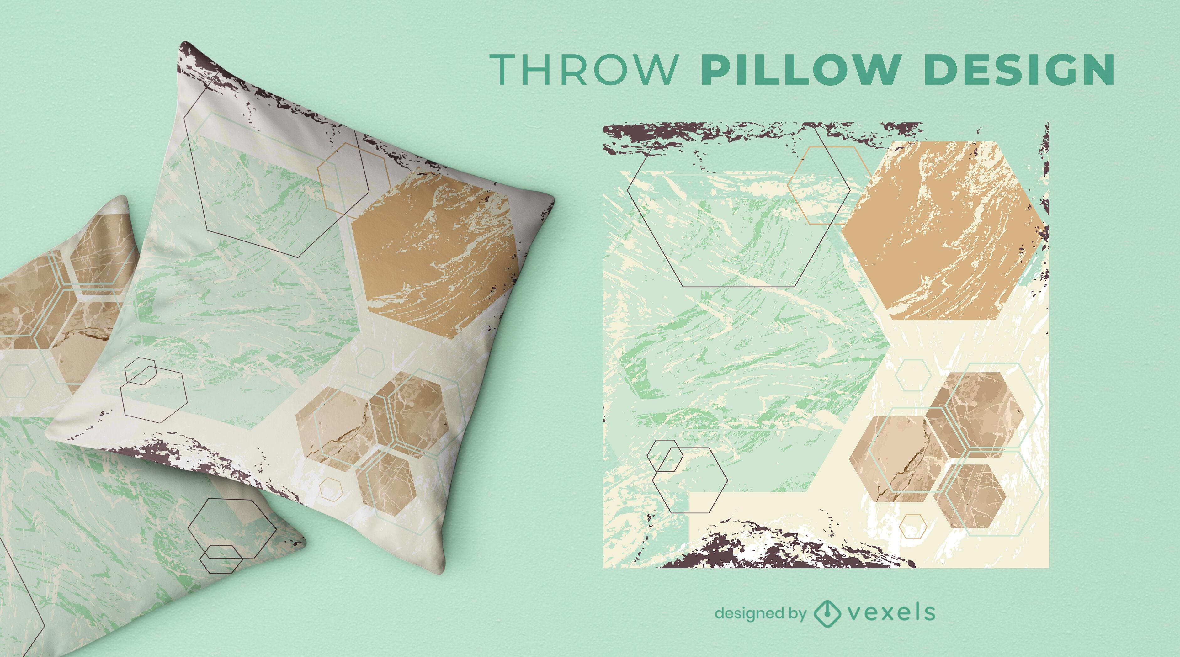 Geometric abstract throw pillow design