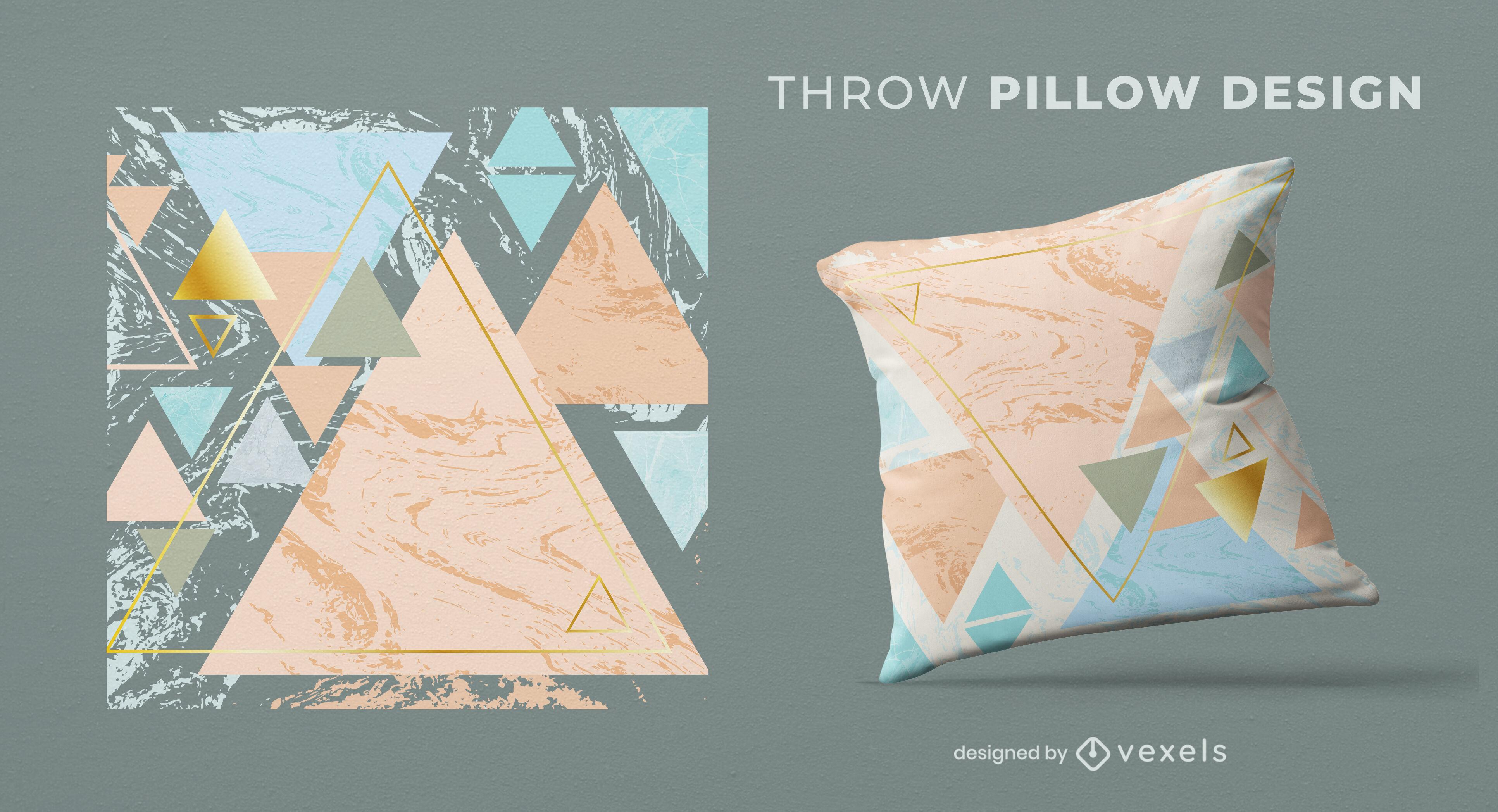 Geometric abstract pillow design