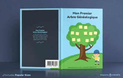 Family tree french book cover design