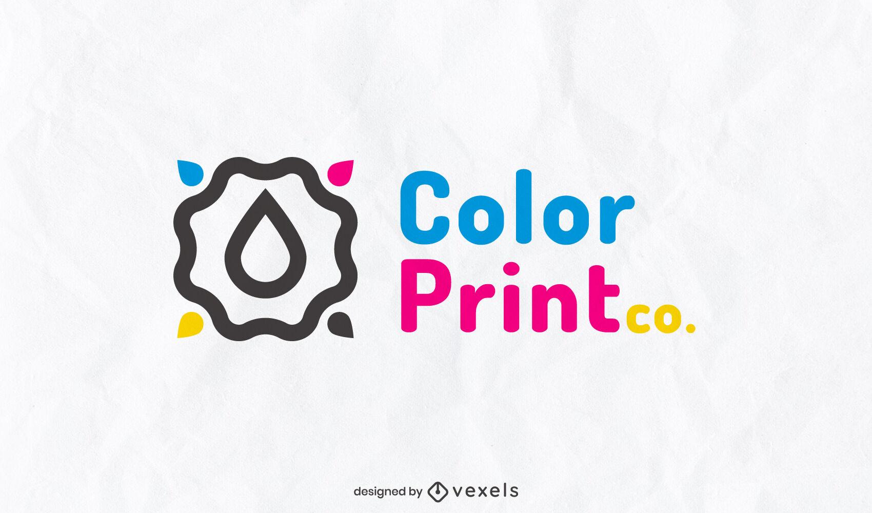Printing CMYK drops logo template