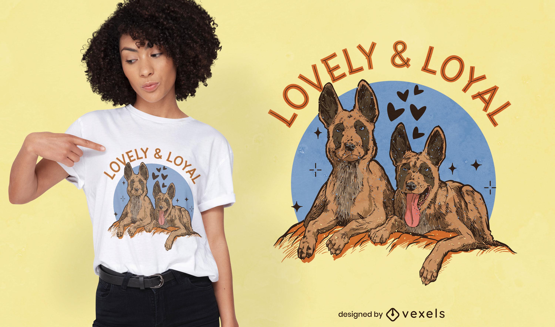 Cute dog animal portraits t-shirt design