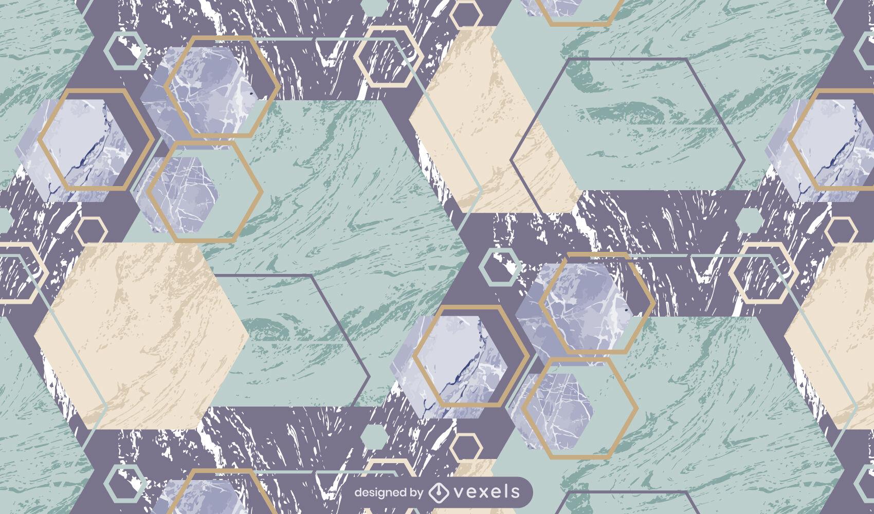 Clear marble geometric pattern