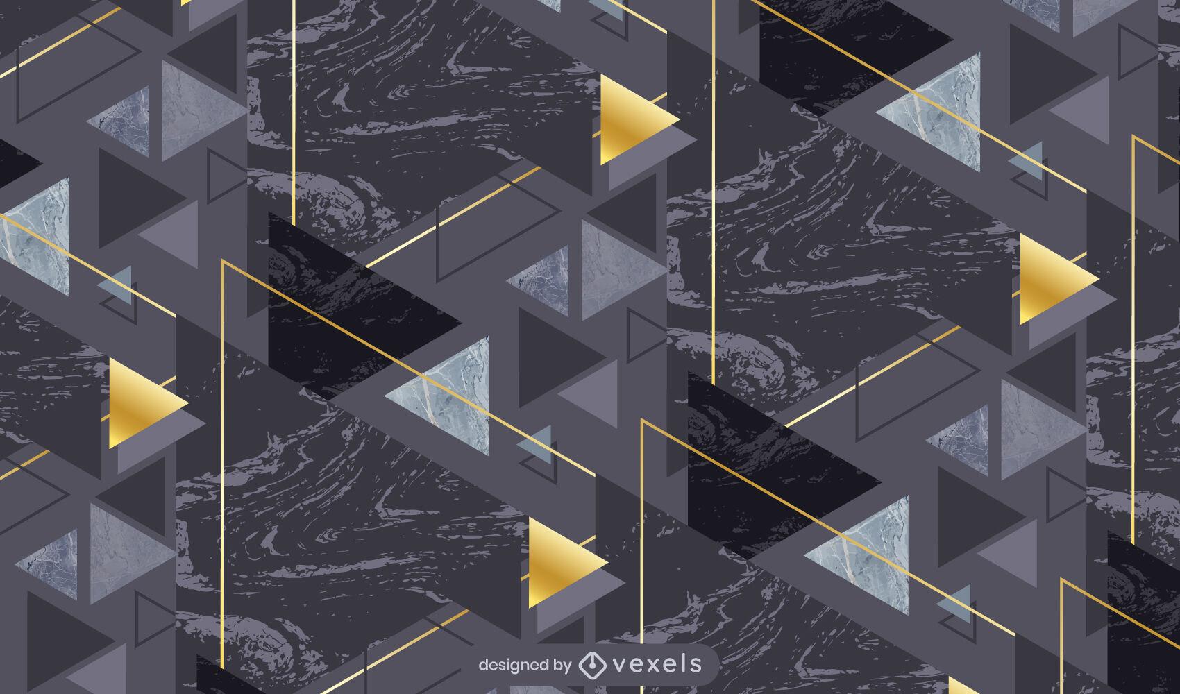 Dark marble geometric pattern