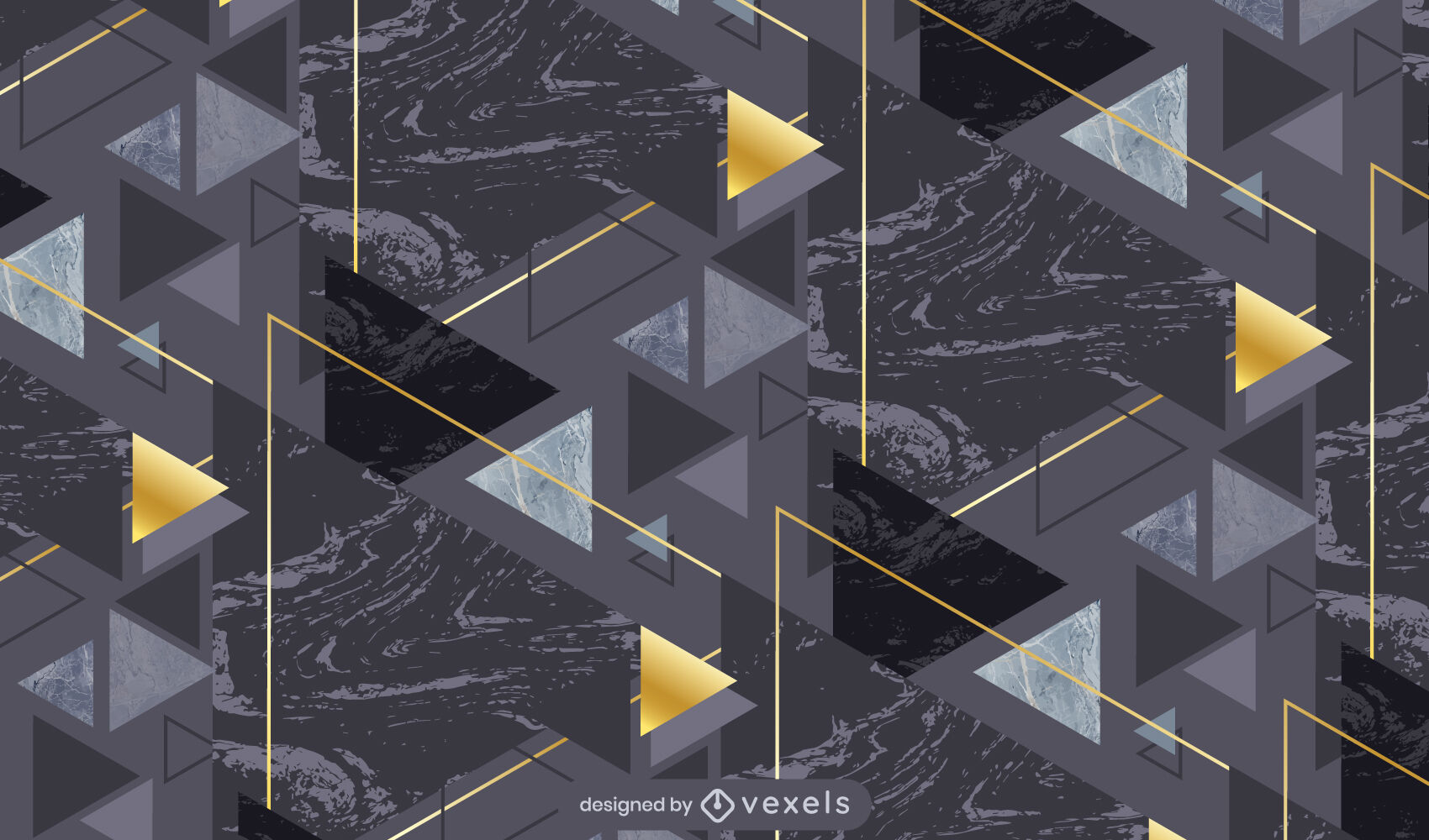 Geometrisches Muster aus dunklem Marmor