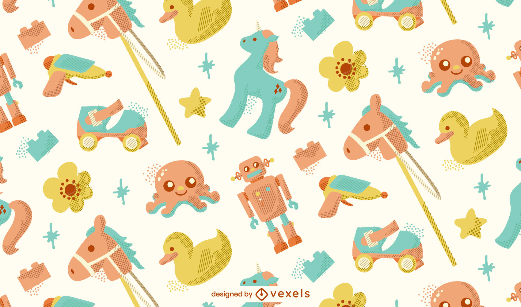 Kid toys textured pattern