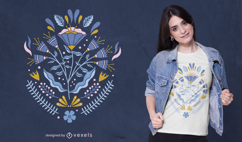 Design de t-shirt roxa de bellflowers