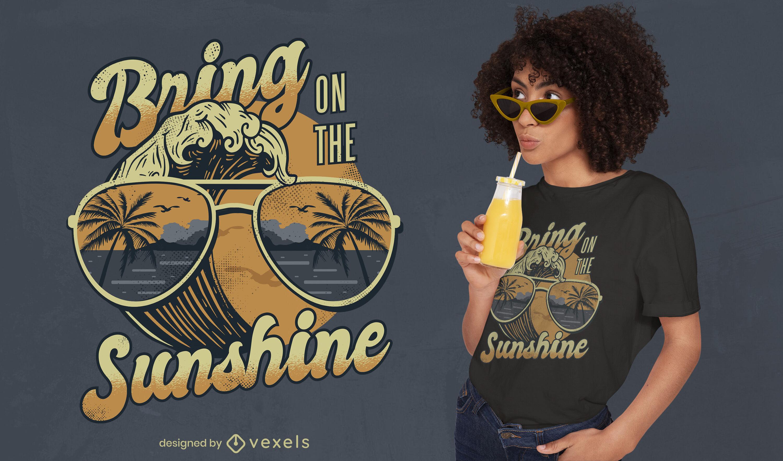 Traga o sol para o design de camisetas