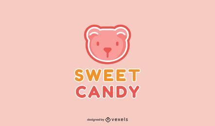 Gummy bear candy logo template