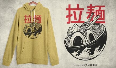 Ramen bowl japanese food t-shirt design
